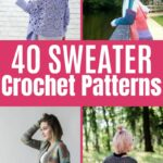 Crochet Sweater Collage