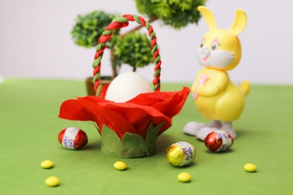 DIY Tissue Paper Easter Basket Decoration