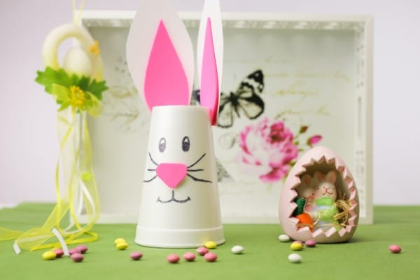 How to Make a Cute Easter Bunny Cup Decoration