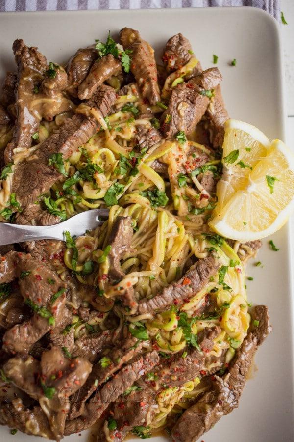 Steak Stir Fry With Zucchini Noodles