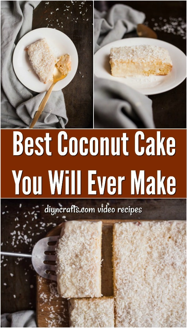 Best Coconut Cake You Will Ever Make - Here you have a coconut cake that doesn't skimp on coconut flavor. I consider this the best coconut cake recipe ever. You won't be sorry you made it! #recipe #coconut #cake #dessert #creamy