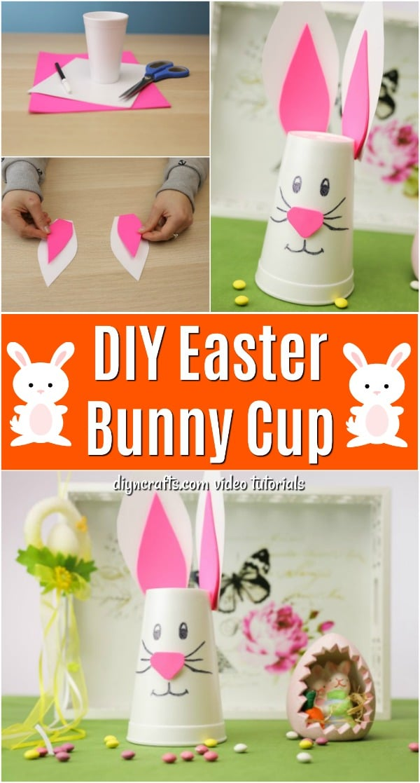 How to Make a Cute Easter Bunny Decoration from a Styrofoam Cup