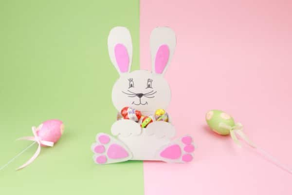 DIY Adorable Paper Easter Bunny Candy Holder {Free Printable}