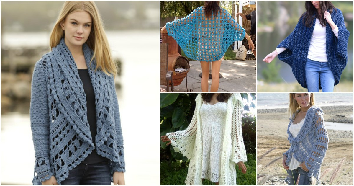 40 Crochet Jacket, Sweater and Cardigan Patterns For All