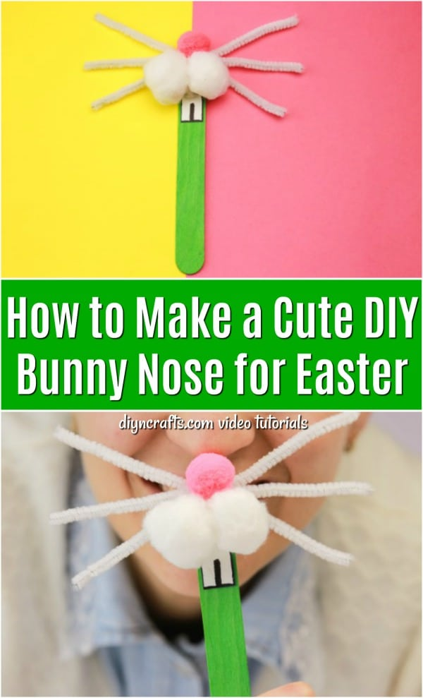 How to Make a Cute DIY Bunny Nose for Easter