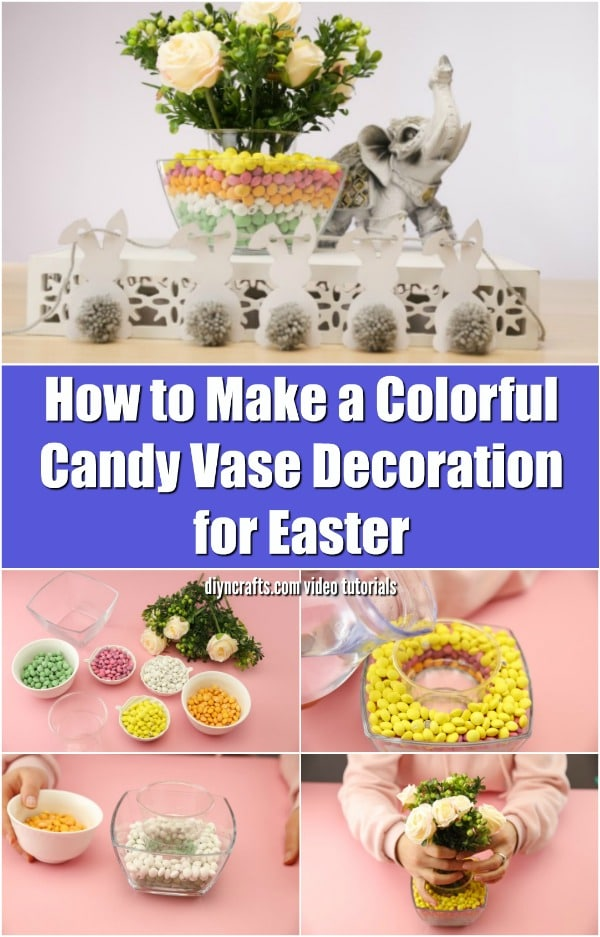 DIY Candy Easter Flower Vase