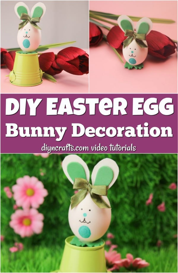 Adorable Easter Bunny Decorated Egg