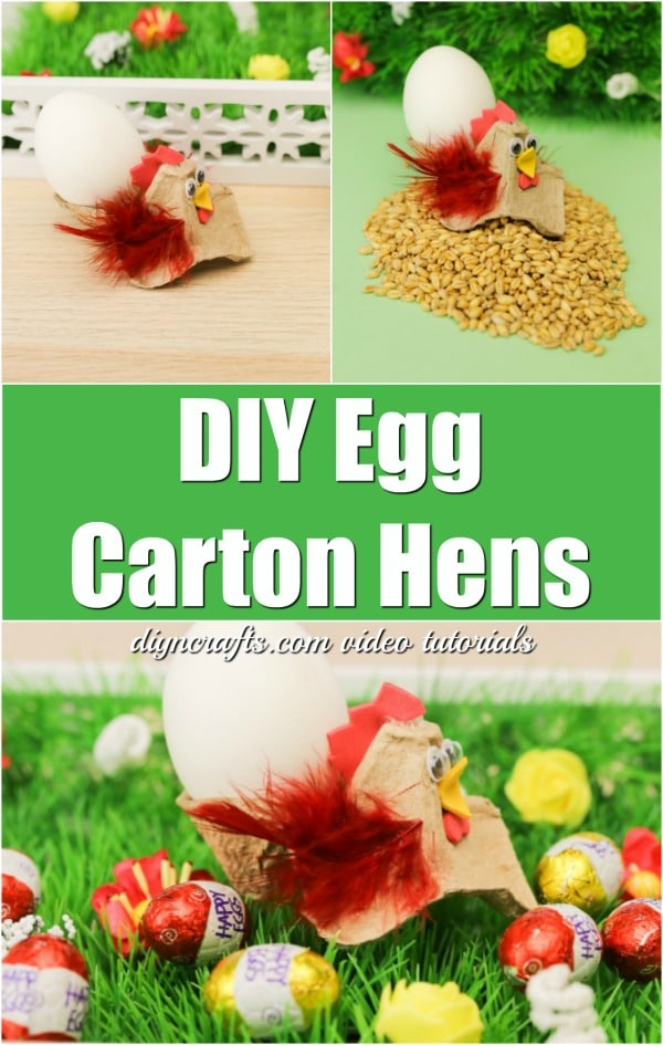 How to Make Cute Little Hens for Easter Out of an Egg Carton