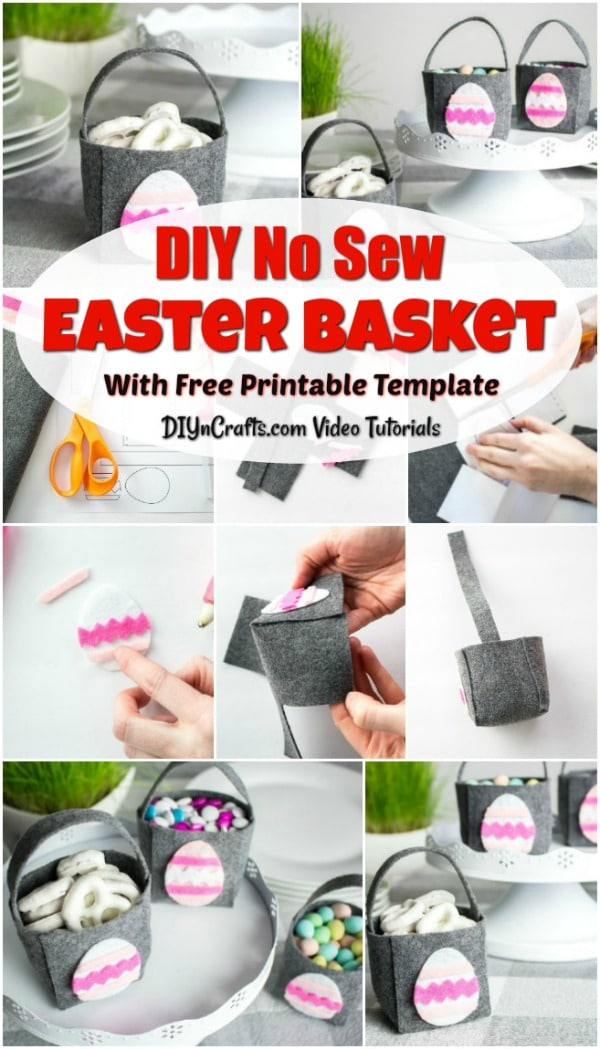 Easy No Sew DIY Easter Basket