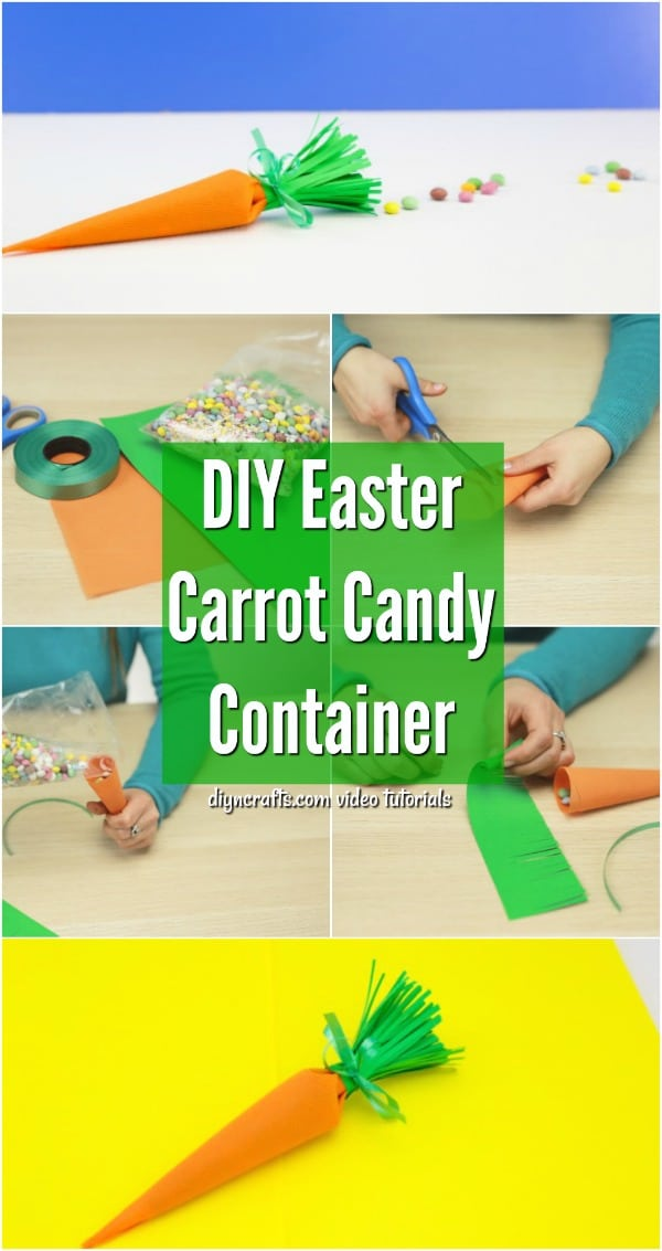 DIY Carrot-Shaped Candy Container for Easter Treats