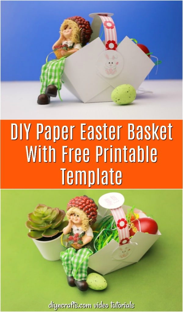 DIY Paper Easter Basket With Free Printable Template