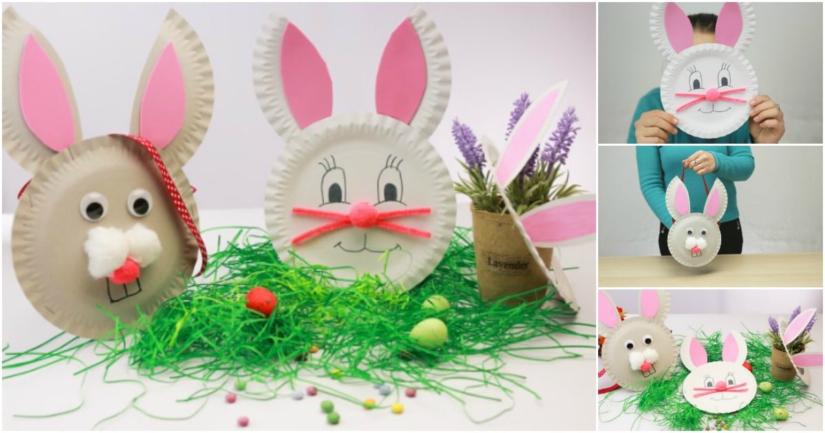How to Make 3 Easter Bunny Crafts Out of Paper Plates ...