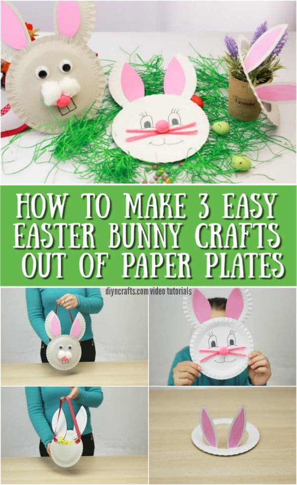 How To Make 3 Easter Bunny Crafts Out Of Paper Plates Diy Crafts