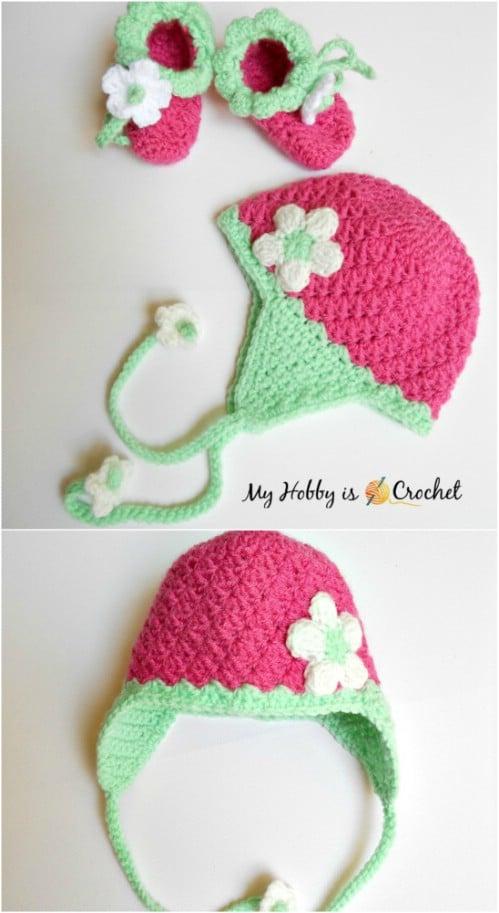 Crochet Baby Earflap Hat