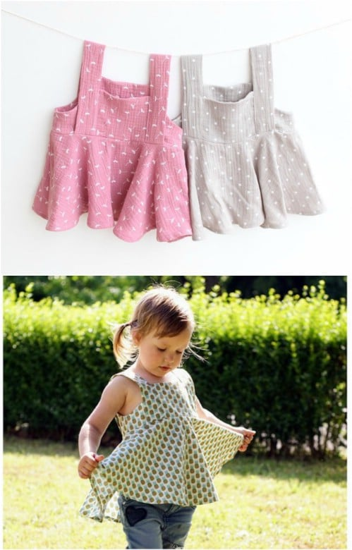 Adorable DIY Airy Girl's Top