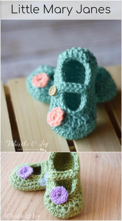 Adorable Crochet Mary Janes