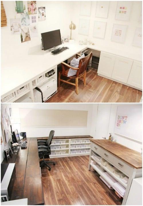 Easy Put Together Home Office Desk