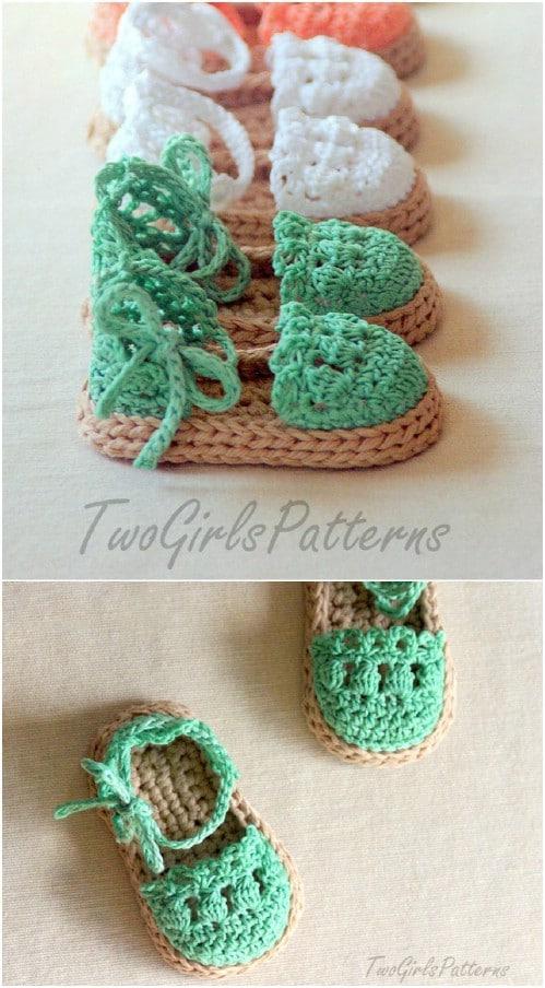 Cute Crochet Baby Sandals