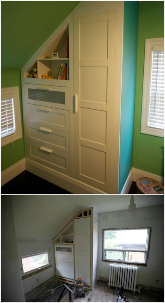 Simple DIY Built In Nursery Dresser