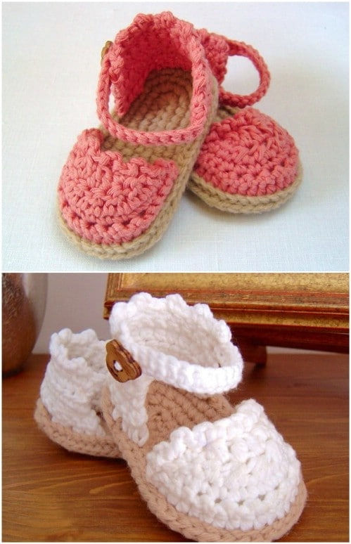 Another Cute Baby Sandals Crochet Pattern