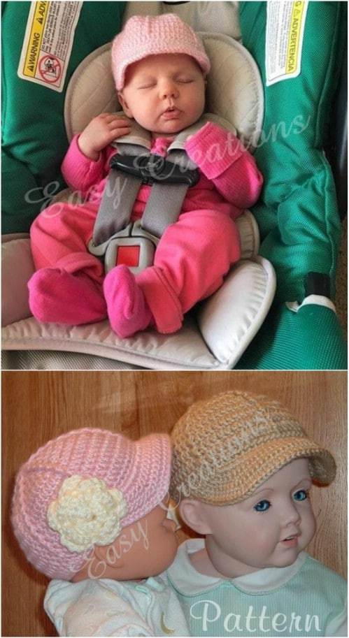 Adorable Crochet Baseball Cap