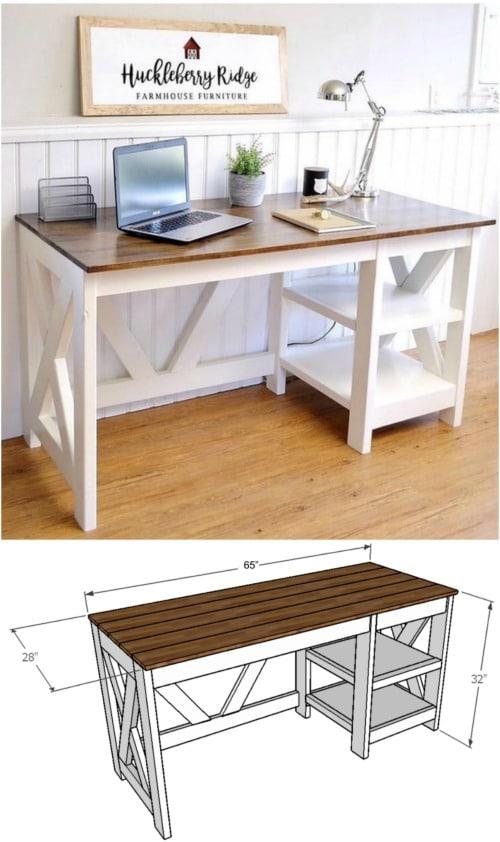 DIY Farmhouse Desk