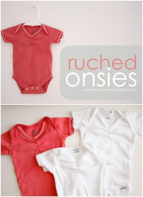 Simple DIY Ruched Onesie