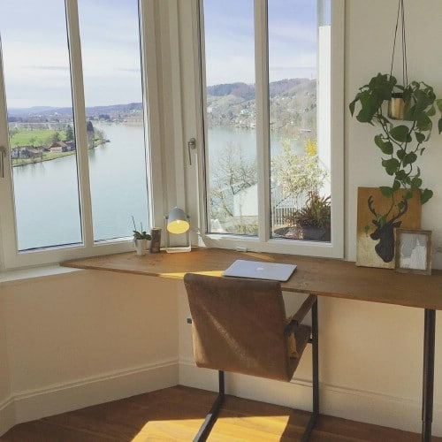 Simple Window Mounted Desk