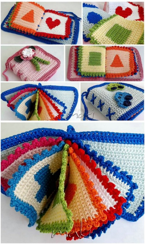 Crochet Baby's First Book Pattern