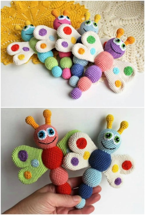 Crochet Butterfly Rattle Pattern