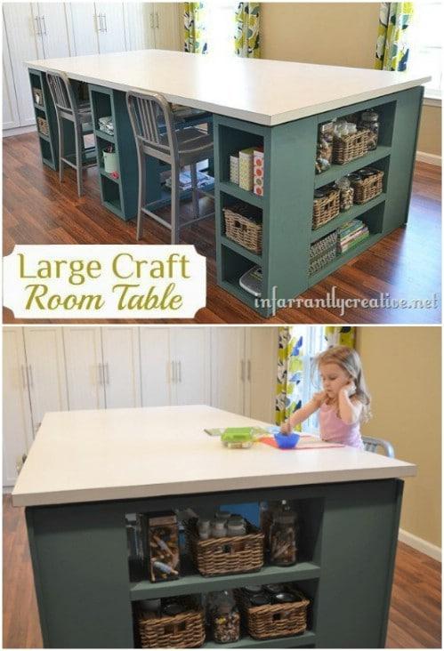 Large DIY Craft Desk