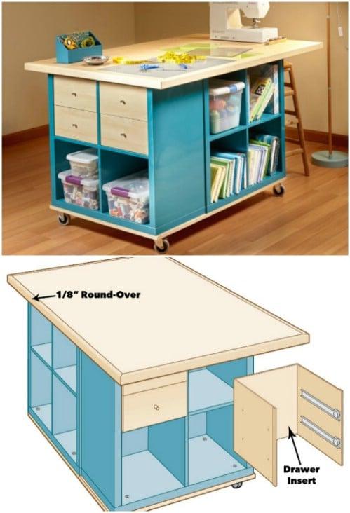 IKEA Hack Crafting Desk