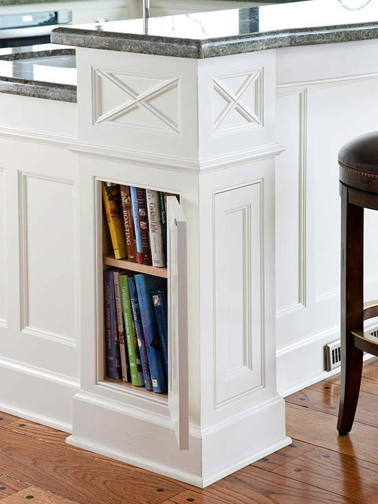 Hidden Kitchen Column Storage