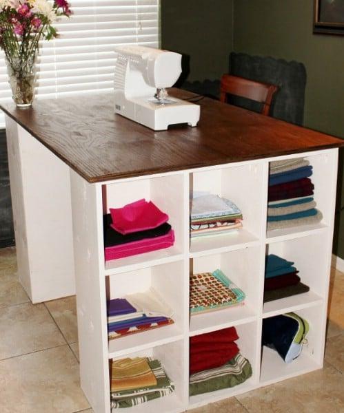 DIY Modular Craft Desk With Storage