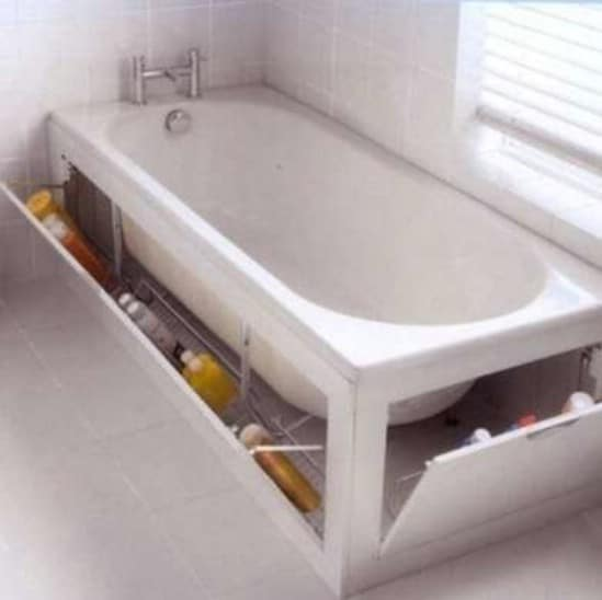 Hidden Bathtub Storage