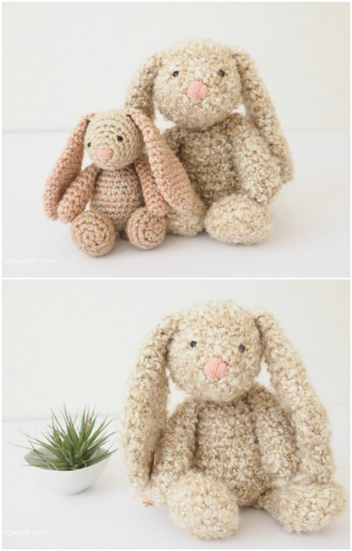 Crocheted Stuffed Bunny Pattern