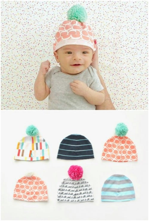 Baby Hats With Pom Poms