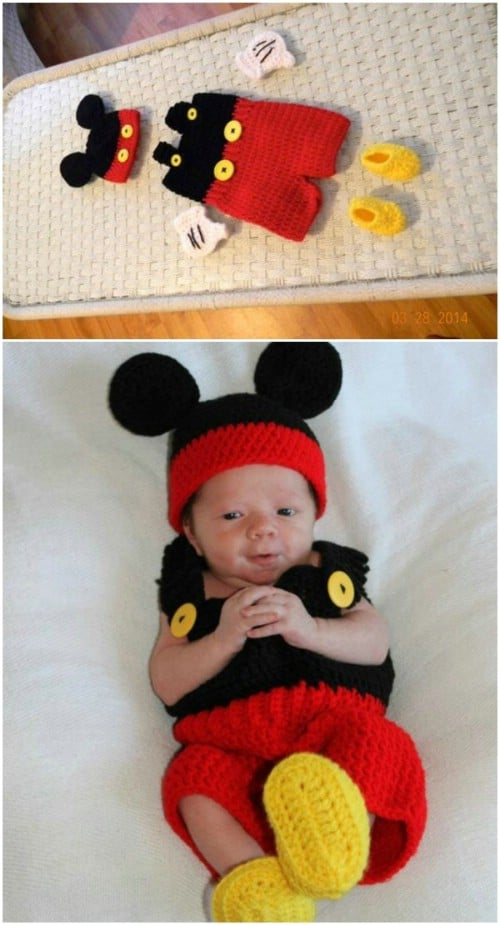 Adorable Mickey Mouse Crochet Set