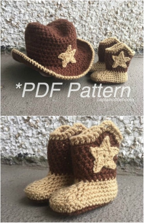 Too Adorable – Crochet Cowboy Hat And Boots