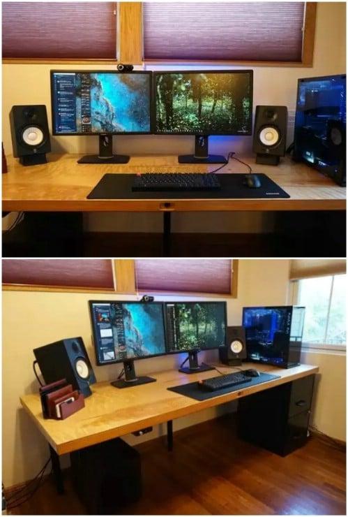 DIY Basic Computer Desk