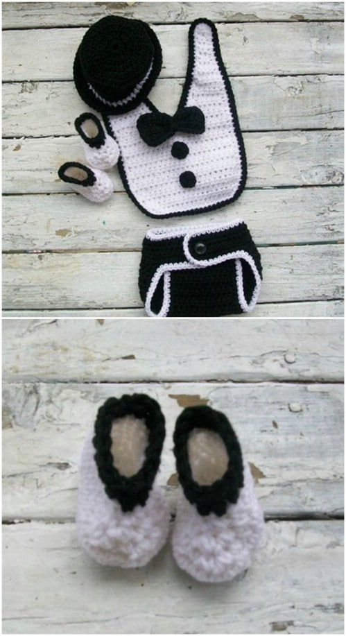 Little Boys' Crochet Tuxedo Set Pattern