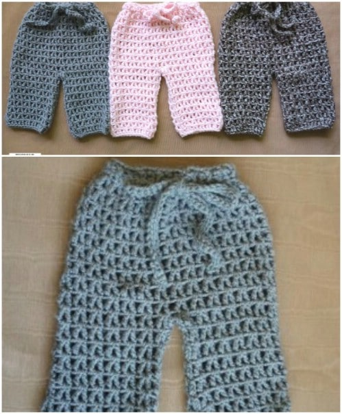 Beginner's Crochet Pattern – Baby Pants