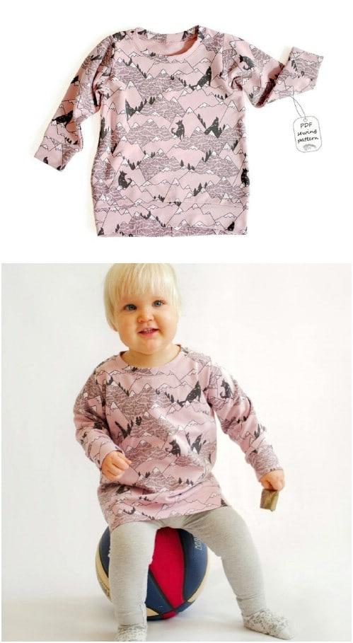 Easy Baby Tunic Sweatshirt