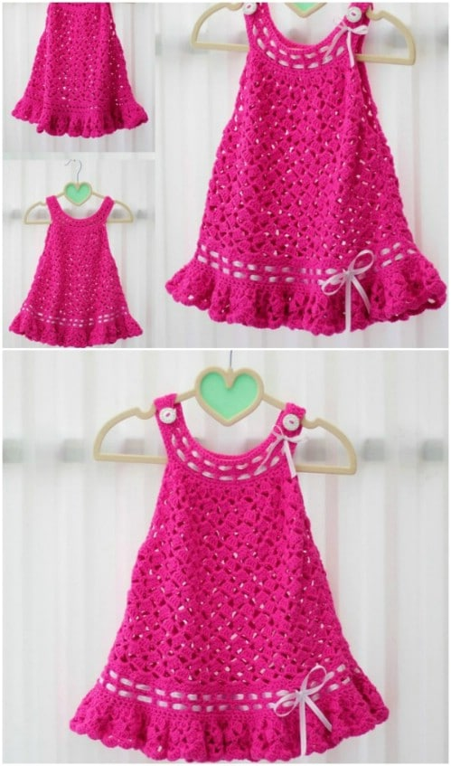 Lace Look Crochet Dress Pattern