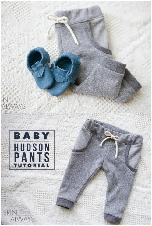Easy Baby Hudson Pants Tutorial