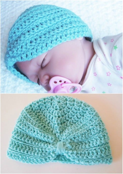 Easy Newborn Turban Crochet Pattern