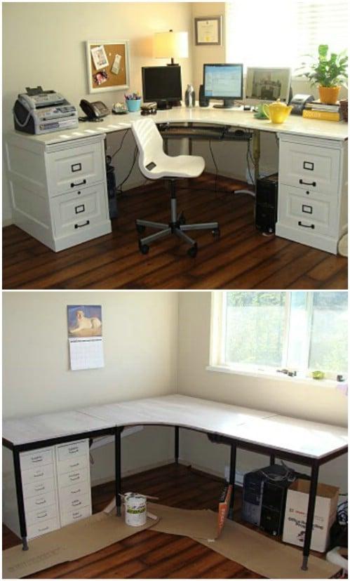 Pottery Barn Inspired DIY Desk