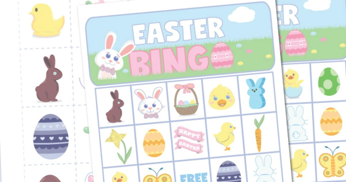 Best Free Printable Easter Bingo Game For Kids Of All Ages Diy