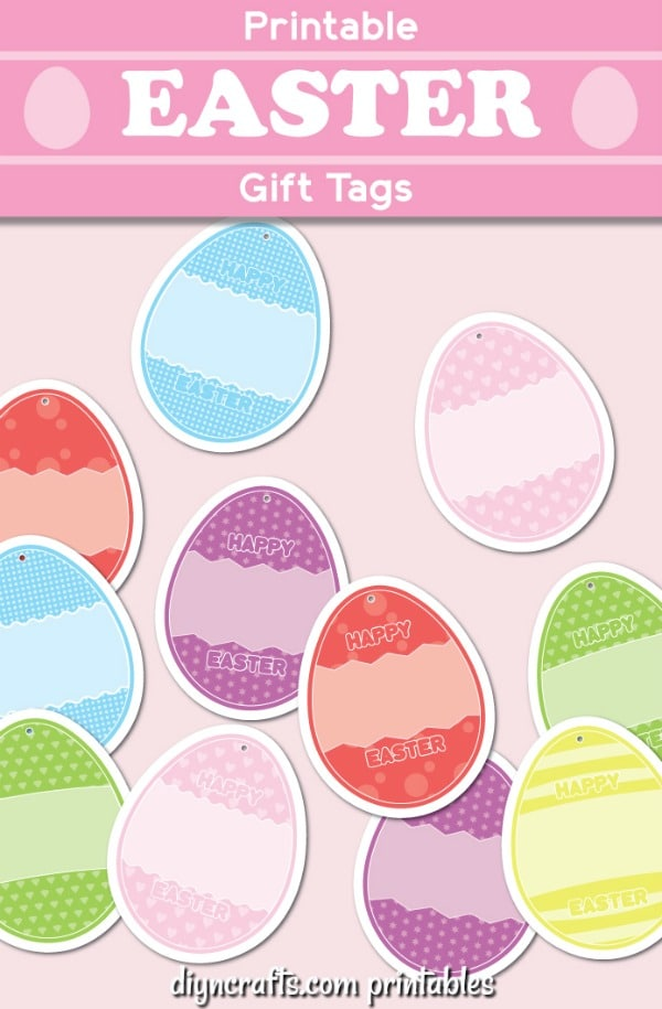graphic about Printable Gift Tages referred to as Absolutely free Printable Easter Reward Tags For Presents And Baskets - Do it yourself
