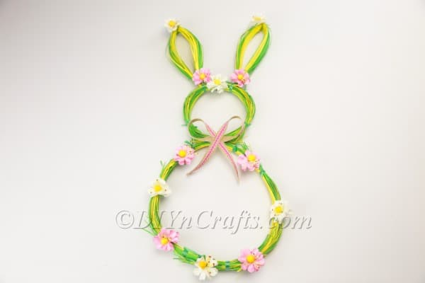 Finished bunny wreath.